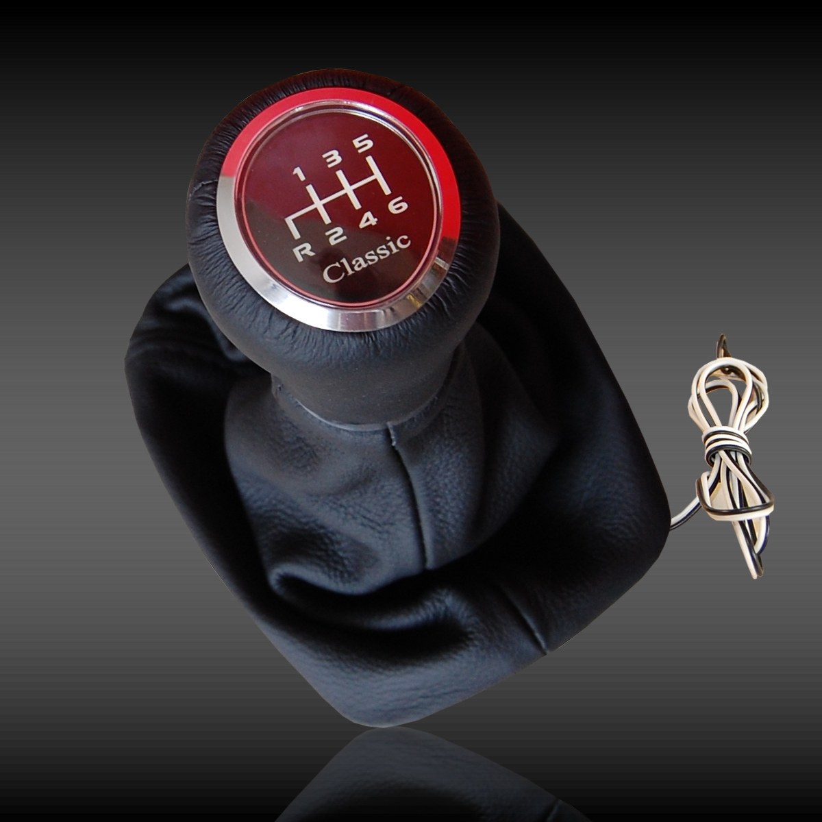 Speed shift gear knob red led illuminated mercedes w203 6 for Mercedes benz shift knob replacement